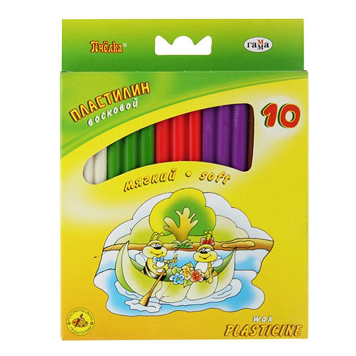 Пластилин восковой Пчелка, со стеком, 10 цветов280031НЦветной восковой пластилин Пчелка, предназначенный для лепки и моделирования, поможет ребенку развить творческие способности, воображение и мелкую моторику рук. Пластилин обладает отличными пластичными свойствами, быстро размягчается, хорошо держит форму и не липнет к рукам. Легко отмывается с рук и отстирывается от одежды. Пластилин нетоксичен, безопасен для здоровья. В наборе пластилин десяти насыщенных цветов: белого, светло-зеленого, кораллового, фиолетового, коричневого, черного, синего, лилового, темно-зеленого и желтого и стек.