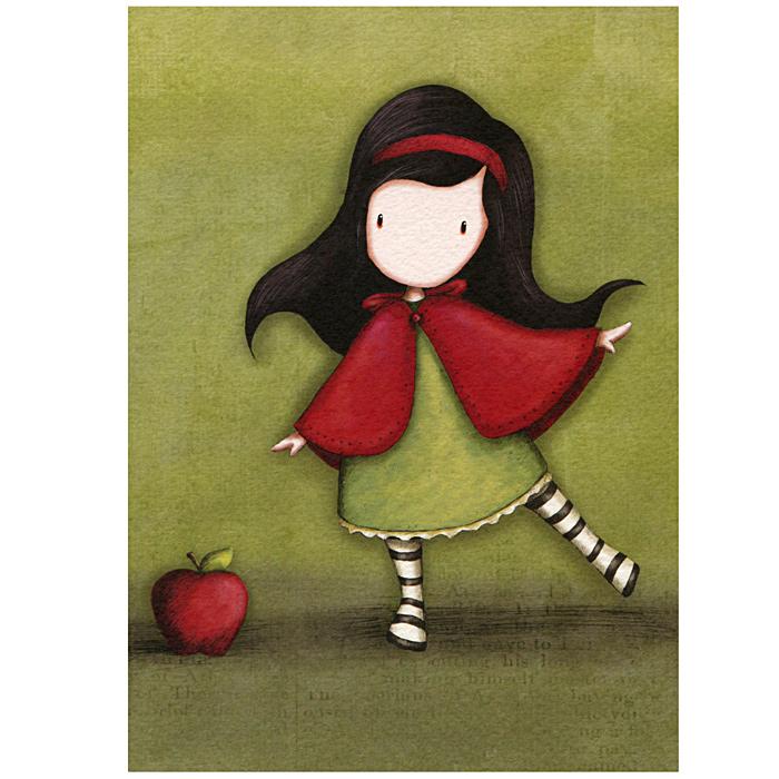 Открытка Little Red, с конвертом. 00110260011026Оригинальная двойная открытка Little Red станет необычным и ярким дополнением к подарку дорогому и близкому вам человеку или просто добавит красок в серые будни. Открытка оформлена стилизованным рисунком шотландской художницы Сюзан Вулкотт (Suzanne Woolcott) с изображением основного персонажа своих произведений - девочки Горджус (Gorjuss). Внутри открытка без текста. К открытке прилагается конверт.