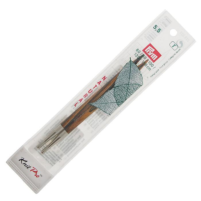 Спицы Prym деревянные съемные, № 5,5223327Деревянные спицы Prym комбинируются с леской различной длины. Кончики спиц закругленные. Круговые спицы предназначены для выполнения деталей и изделий, не имеющих швов. Так как вес изделия лучше распределяется именно на таких спицах, то ими очень удобно работать. Короткими круговыми спицами вяжут бейки горловины, воротники-гольф, длинными спицами можно вязать по кругу целые модели. Вы сможете вязать для себя, делать подарки друзьям. Рукоделие всегда считалось изысканным, благородным делом. Работа, сделанная своими руками, долго будет радовать вас и ваших близких.