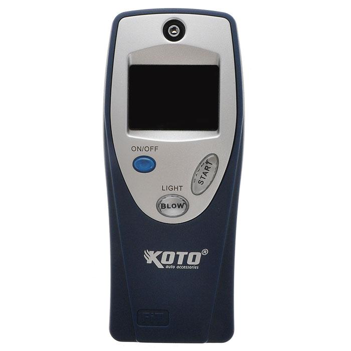 Алкотестер Koto, электронный. BAT001BAT001Алкотестер Koto, электронный BAT001 анализирует пары алкоголя в выдыхаемом воздухе. Прибор пересчитывает полученные данные на концентрацию алкоголя в крови и выдает результат на электронный жидкокристаллический экран.