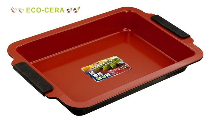 Форма для выпечки Vitesse, цвет: коричневый, 33 х 23 смVS-2353Прямоугольная форма для выпечки Vitesse изготовлена из высококачественной углеродистой стали. Внутреннее керамическое покрытие Eco-Cera, позволяющее готовить при температуре 220°С, не оставляет послевкусия, делает возможным приготовление блюд без масла, сохраняет витамины и питательные вещества. Покрытие безопасно для человека, не содержит PFOA. Высокотехнологичное внешнее антипригарное покрытие устойчиво к царапинам и механическим повреждениям. Удобные ручки оснащены съемными силиконовыми вставками. Простая в уходе и долговечная в использовании форма Vitesse будет верной помощницей в создании ваших кулинарных шедевров. Можно мыть в посудомоечной машине.