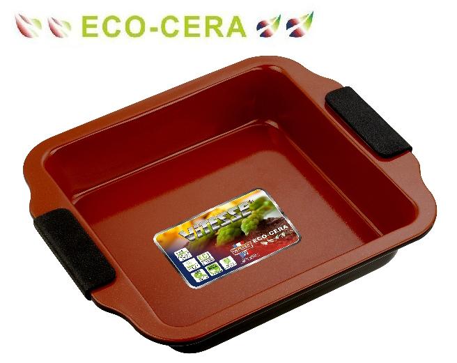 Форма для выпечки Vitesse, цвет: коричневый, 20 х 20 см VS-2351VS-2351Квадратная форма для выпечки Vitesse изготовлена из высококачественной углеродистой стали. Внутреннее керамическое покрытие Eco-Cera, позволяющее готовить при температуре 220°С, не оставляет послевкусия, делает возможным приготовление блюд без масла, сохраняет витамины и питательные вещества. Покрытие безопасно для человека, не содержит PFOA. Высокотехнологичное внешнее антипригарное покрытие устойчиво к царапинам и механическим повреждениям. Удобные ручки оснащены съемными силиконовыми вставками. Простая в уходе и долговечная в использовании форма Vitesse будет верной помощницей в создании ваших кулинарных шедевров. Можно мыть в посудомоечной машине.