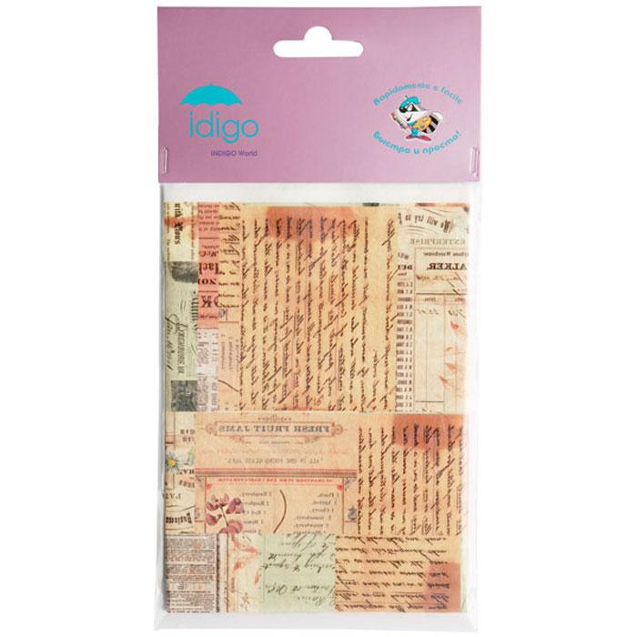 Декупажная карта на рисовой бумаге