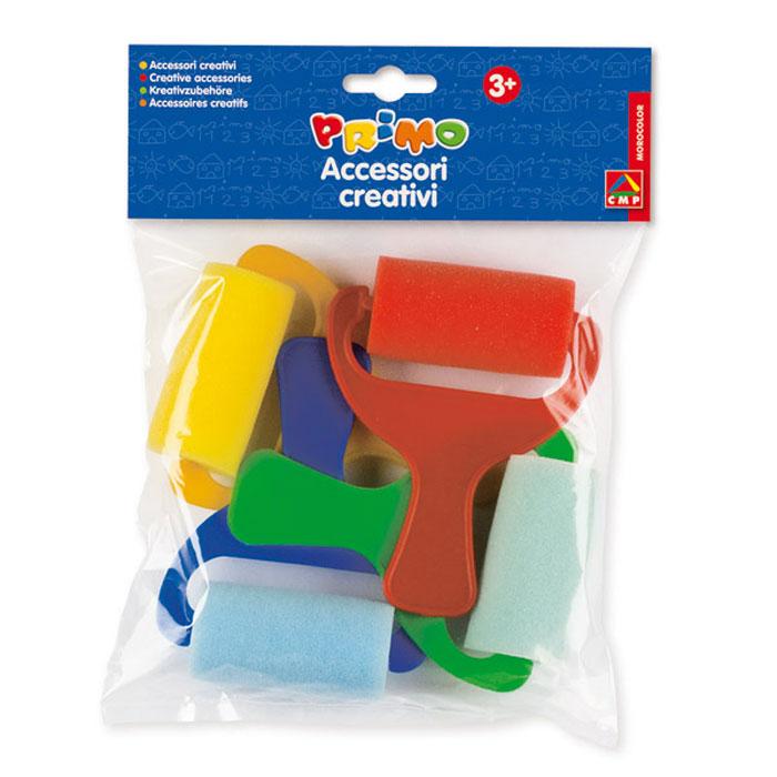 Валики для пальчиковых красок, 4 шт51000370/771dm1Валики Primo прекрасно подойдут для рисования акварельными, пальчиковыми красками и гуашью. Обмакнув валик в краску, и проведя им по бумаге, юный художник получит цветную линию. Валик крепится на широкой пластиковой ручке, благодаря чему его легко будет держать во время рисования, и руки останутся чистыми. В комплект входят четыре валика.