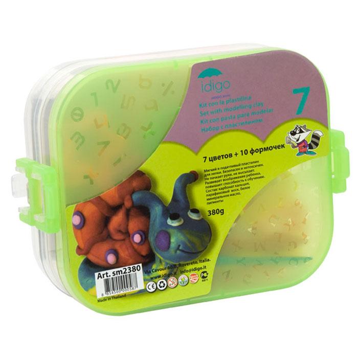 Набор для лепки: пластилин с инструментами в двухярусном контейнере (пластилин 7 цветов 380 грамм, 10 формочек, 3 стека)51000574/sm2380Набор для лепки Idigo предназначен для лепки и моделирования. Пластилин обладает отличными пластичными свойствами, быстро размягчается, хорошо держит форму и не липнет к рукам. Легко отмывается с рук и отстирывается от одежды. В наборе пластилин семи цветов: красного, зеленого, розового, синего, белого, черного и оранжевого, десять формочек и три стека. Набор упакован в пластиковый контейнер с двумя отделениями с крышкой и четырьмя защелками по бокам. Занятия лепкой помогут ребенку развить творческие способности, воображение, мелкую моторику рук и сенсорное восприятие.