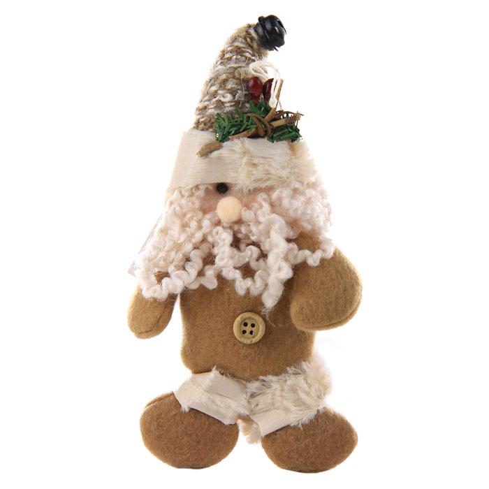 Новогоднее подвесное украшение Санта. 2272022720Новогоднее украшение выполнено в виде мягкой игрушки Санты. Вы можете подвесить его в любом месте, где оно будет удачно смотреться, и радовать глаз. Кроме того, это украшение - отличный вариант подарка для ваших близких и друзей. Новогодние украшения всегда несут в себе волшебство и красоту праздника. Создайте в своем доме атмосферу тепла, веселья и радости, украшая его всей семьей.