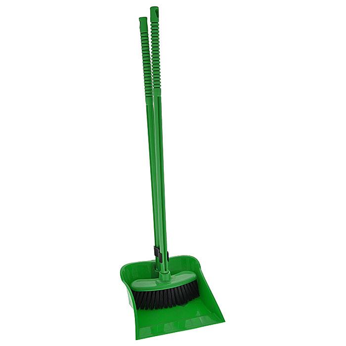 Набор Комфорт: щетка, совок, цвет: зеленыйМ1192Набор Комфорт включает: щетку и совок зеленого цвета. Совок и щетка оснащены резьбой, поэтому длинные ручки можно снимать, а также есть специальное отверстие, которое позволяет повесить набор на крючок. С набором Комфорт уборка займет гораздо меньше времени и сил.