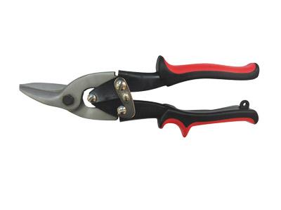 Ножницы по металлу VIRA, правый рез, цвет: красный850001Ножницы по металлу VIRA имеют правый рез, сделаны из высококачественной инструментальной стали. На лезвиях нанесены насечки против соскальзывания при вырезке и подрезке выемок, а также подрезке по твердому металлу.