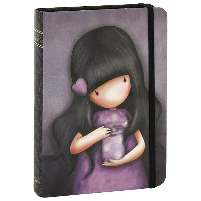 Блокнот We Can All Shine, цвет: фиолетовый. 00130220013022Очаровательный блокнот в твердом переплете We Can All Shine не позволит потеряться ни одной идее в потоке событий и станет прекрасным подарком для любительницы оригинальных вещиц. Обложка выполнена из плотного картона с выборочной лакировкой и оформлена изображением девочки. Дополнительный штрих - аккуратные скругленные уголки. Внутренний блок выполнен из плотной бумаги кремового цвета. Закладка-ляссе поможет ориентироваться в записях. На задней обложке расположен вместительный кармашек для заметок. Блокнот плотно закрывается при помощи фиксирующей резинки. Характеристики: Материал: картон, бумага, текстиль. Размер: 19,5 см x 14 см x 1,8 см. Цвет: фиолетовый. Артикул: 0013022.