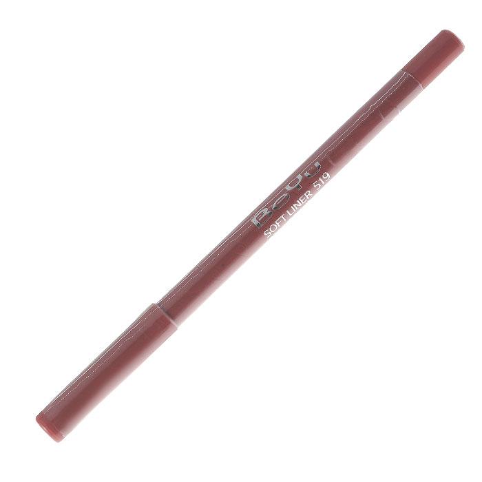 BeYu Карандаш для губ Soft Liner, универсальный, тон №519, 1,2 г34519Мягкая текстура карандаша Soft Liner легко и приятно наносится на нежную кожу губ. Благодаря стойкой формуле карандаш фиксируется уже через минуту и становится водостойким. При этом при необходимости он легко растушевывается. Широкая цветовая палитра дает возможность идеально подобрать карандаш к помаде, а удобная пластиковая упаковка защищает грифель от сколов. Товар сертифицирован.