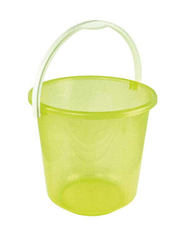 Ведро Хозяюшка, цвет: желтый, 10 л. М1212М1212Ведро Хозяюшка изготовлено из пластмассы желтого цвета. Предназначено специально для начинающего садовода. В нем можно принести воды или использовать его для переноски земли.