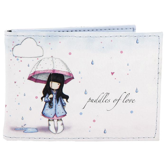 Держатель для кредитных карт Puddles of Love. 00120280012028Держатель Puddles of Love предназначен для хранения кредитных карт. Держатель внутри имеет два кармашка из прозрачного пластика со специальными отверстиями для пальцев, для удобного извлечения. Держатель выполнен из полиуретана и оформлен стилизованным изображением девочки Горджус (Gorjuss) под зонтиком - основного персонажа рисунков шотландской художницы Сюзан Вулкотт (Suzanne Woolcott). Такой держатель позволит хранить все ваши кредитки под рукой и послужит отличным подарком.