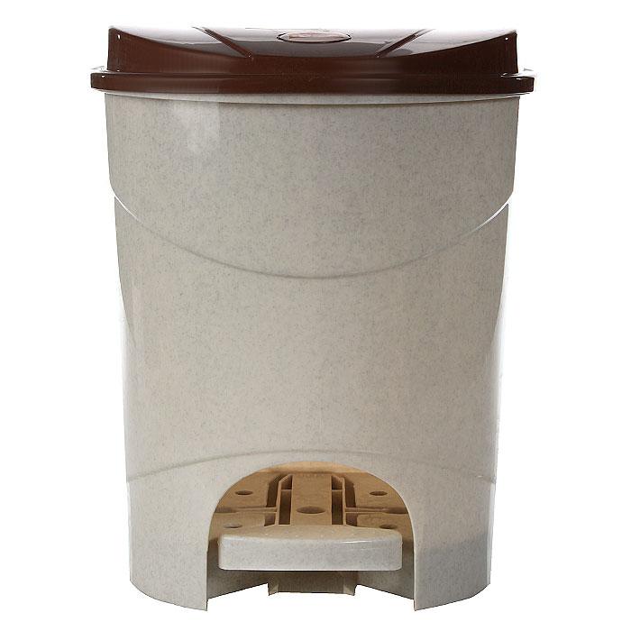Контейнер для мусора Idea,с педалью, 11 л, цвет: бежевый, коричневый. М2891М2891Контейнер для мусора с педалью и крышкой удобен в использовании. Контейнер выполнен из пластика. Характеристики: Материал: пластик. Объем: 11 л. Цвет: бежевый, коричневый. Размер контейнера (с крышкой): 26,5 см х 25 см х 32,5 см. Артикул: М2891.