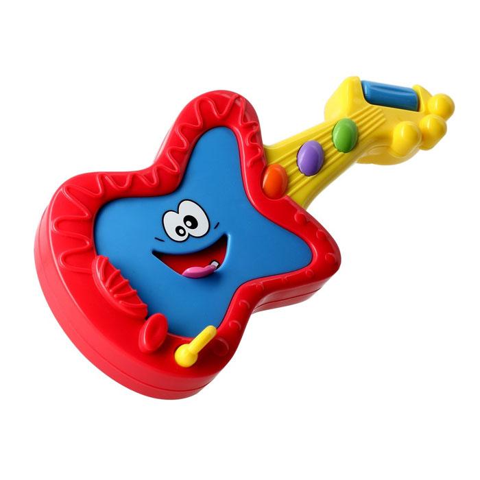 Музыкальная игрушка Kidz Delight Мини-гитараТ55435Музыкальная игрушка Kidz Delight Мини-гитара представляет собой яркую разноцветную игрушку, выполненную в виде забавной гитары с тремя музыкальными кнопками оранжевого, сиреневого и зеленого цветов. При нажатии на кнопки, малыш услышит веселые мелодии. Музыкальная игрушка Kidz Delight Мини-гитара - это не просто инструмент, на котором можно играть, это еще и игрушка, которая сама поет: для этого нужно лишь нажать на язычок, торчащий из ротика, и сразу зазвучат веселые песенки. Музыкальная игрушка Kidz Delight Мини-гитара способствует развитию цветовосприятия, звуковосприятия, мелкой моторики рук, а также прививает любовь к музыке. Музыкальная игрушка Kidz Delight Мини-гитара доставит вашему ребенку огромное удовольствие и вдохновит к занятию музыкой.