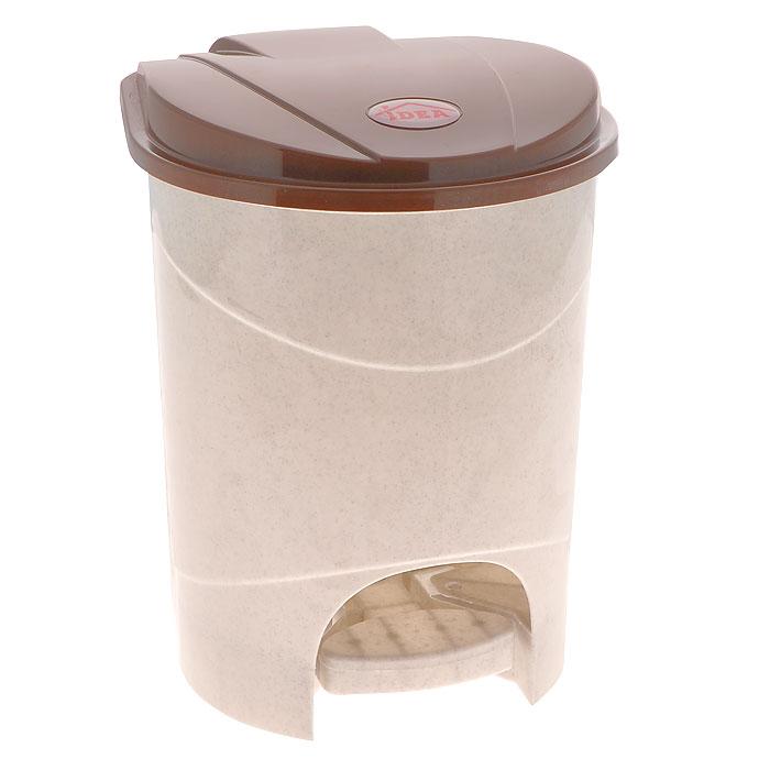 Контейнер для мусора Idea, с педалью, 7 л, цвет: бежевый, коричневый. М 2890М 2890Контейнер для мусора с педалью и крышкой удобен в использовании. Контейнер выполнен из пластика. Характеристики: Материал: пластик. Объем: 7 л. Цвет: бежевый, коричневый. Размер контейнера (с крышкой): 21 см х 22 см х 29 см. Артикул: М2890.