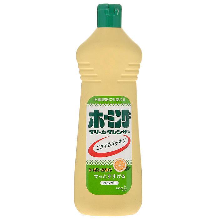 Чистящий крем KAO Homing от подгаров и жиров, с ароматом лимона, 400 г02678Чистящий крем KAO Homing прекрасно удаляет неприятный запах и въевшуюся грязь. Легко смывается, не оставляет царапин на поверхности. Применяется для чистки кухонных принадлежностей, а также для раковин, кранов, газовых плит, кухонных стен, ванн, туалетной комнаты, кафельной плитки. Обладает приятным ароматом лимона. Разрешается: использовать на плитах, кастрюлях, сковородках, чайниках, раковине, кафеле, ванной и в туалетной комнате. Не разрешается: использовать на изделиях из меди, пластмассы и других мягких изделиях.