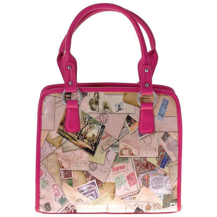 Сумка женская Flioraj Конверты, цвет: бежевый, розовый. 3148231482-18/1070/606/1070/61Изысканная женская сумка Flioraj выполнена из высококачественной искусственной кожи. Сумка закрывается на застежку-молнию. Внутри - одно отделение, также есть открытый карман, два кармана на застежках-молниях и два не больших накладных кармашка для телефона и мелочей. Задняя сторона дополнена плоским врезным карманом на застежке-молнии. Ручки сумки крепится на металлическую фурнитуру. Дно сумки защищено металлическими ножками, обеспечивающими дополнительную устойчивость. В комплекте чехол для хранения. Яркий дизайн сумки, сочетающий классические формы с оригинальным оформлением, позволит вам подчеркнуть свою индивидуальность и сделает ваш образ изысканным и завершенным.