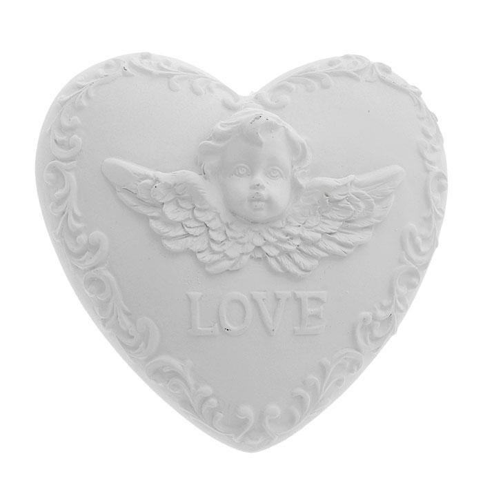 Декоративное украшение Сердце. Ф21-2250Ф21-2250Декоративное украшение Сердце, изготовленное из полирезины, выполнено в виде сердечка, декорированного рельефными узорами, лицом ангела с крыльями и надписью Love. Декоративное украшение послужит приятным и полезным сувениром для близких и знакомых и, несомненно, доставит массу положительных эмоций своему обладателю.