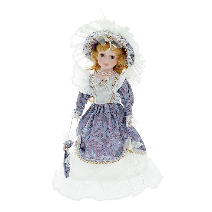 Декоративная керамическая кукла, на подставке, 40 см. Ф21-1490