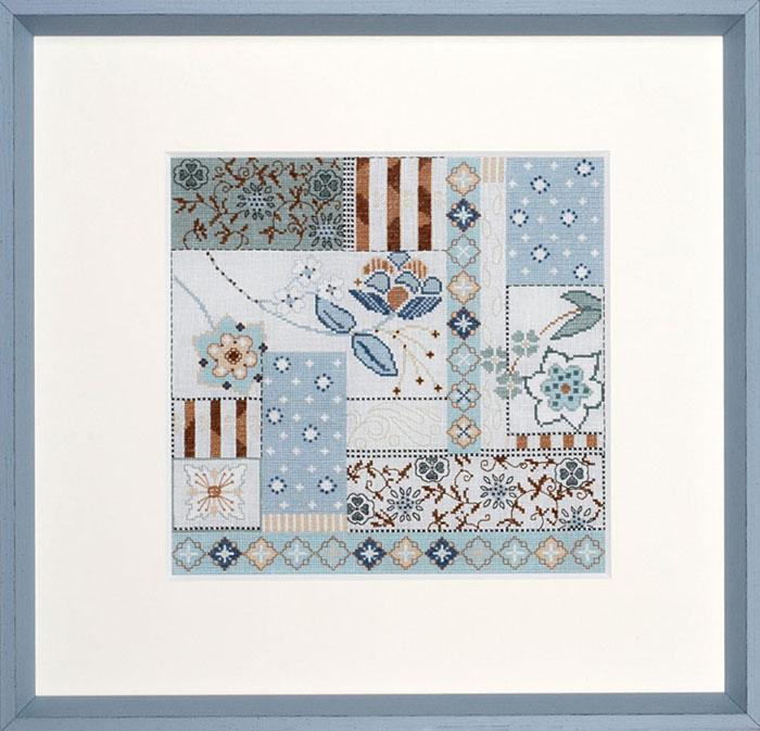 Набор для вышивания Acufactum Пэчворк в голубых тонах, 30 х 30 см2537В наборе для вышивания Acufactum Пэчворк в голубых тонах есть все необходимое для создания собственного чуда: 12-ти ниточный лен (основа для вышивки), однониточное матовое мулине, цветная символьная схема и игла. Красивый и стильный рисунок-вышивка, оформленный изображением необычного цветочного орнамента в сине-голубой гамме и выполненный в канве, выглядит оригинально и всегда модно. Благодаря такому набору вы получаете возможность вышить прекрасную картину. Наборы для вышивания Acufactum не производятся в промышленных масштабах, что говорит об их эксклюзивности. Оригинальные сюжеты Ute Menze с проработанной схемой доставят вам массу удовольствия во время творчества. А готовые работы не останутся не замеченными вашими друзьями! Acufactum - это синоним восхитительного стиля!