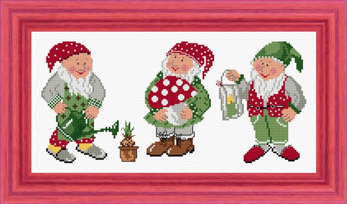 Набор для вышивания Acufactum Любимые гномики, 35 см х12 см24097-01-3В наборе для вышивания Acufactum Любимые гномики есть все необходимое для создания собственного чуда: 12-ти ниточный лен (основа для вышивки), однониточное матовое мулине, цветная символьная схема и игла. Красивый и стильный рисунок-вышивка, оформленный изображением трёх забавных гномиков и выполненный на канве, выглядит оригинально и всегда модно. Благодаря такому набору вы получаете возможность вышить прекрасную картину. Наборы для вышивания Acufactum не производятся в промышленных масштабах, что говорит об их эксклюзивности. Оригинальные сюжеты Ute Menze с проработанной схемой доставят вам массу удовольствия во время творчества. А готовые работы не останутся не замеченными вашими друзьями! Acufactum - это синоним восхитительного стиля!