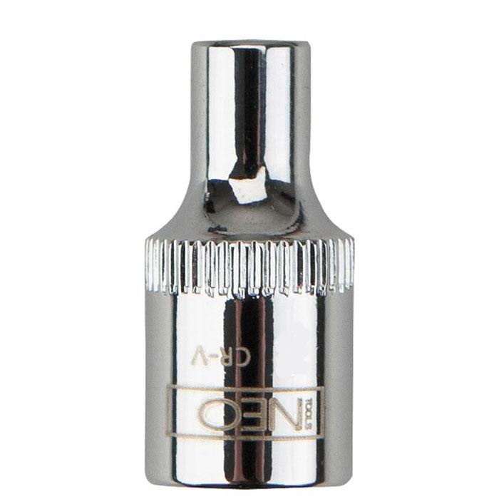 Головка торцевая Neo 1/4, 5 мм08-222Головка торцевая Neo применяется для монтажа/демлнтажа резьбовых соединений. Станет отличным помощником монтажнику или владельцу авто. Этот инструмент обеспечит надежную фиксацию на гранях крепежа. Характеристики: Материал: хром-ванадий. Диаметр головки: 5 мм. Размер переходника: 1/4. Размер упаковки: 8,5 см х 4,5 см х 1 см.