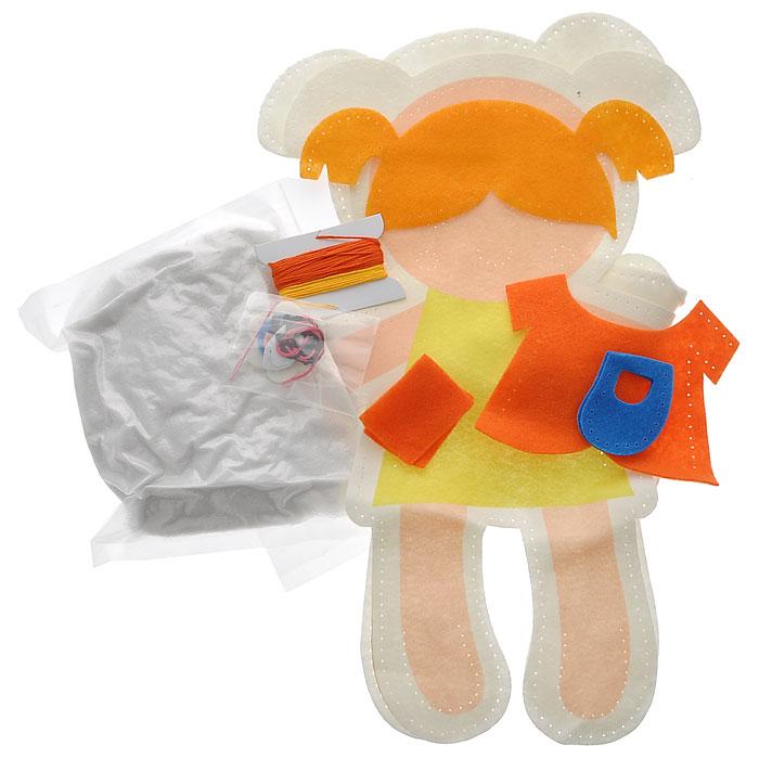 Набор для шитья из фетра Кукла в оранжевом платье, 28 х 38 см931-58В наборе для шитья из фетра Кукла в оранжевом платье есть все необходимое для создания собственного чуда: выкройки из полиакрила с перфорацией для шитья, пластиковая игла, нитки, инструкция. Работа, сделанная своими руками долгие годы будет радовать вас и ваших близких. Работа, которая отвлечет вас от повседневных забот, и превратится в увлекательное занятие!