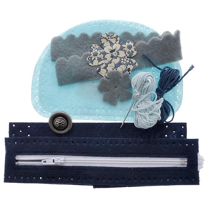 Набор для шитья из фетра Сумочка. Цветок на голубом, 10 х 14 см931-46В наборе для шитья из фетра Сумочка. Цветок на голубом есть все необходимое для создания собственного чуда: выкройки из полиакрила с перфорацией для шитья, фурнитура, стальная игла с тупым кончиком, нитки, инструкция. Красивая и стильная сумка выглядит оригинально и всегда модно. Работа, сделанная своими руками долгие годы будет радовать вас и ваших близких. Работа, которая отвлечет вас от повседневных забот, и превратится в увлекательное занятие!