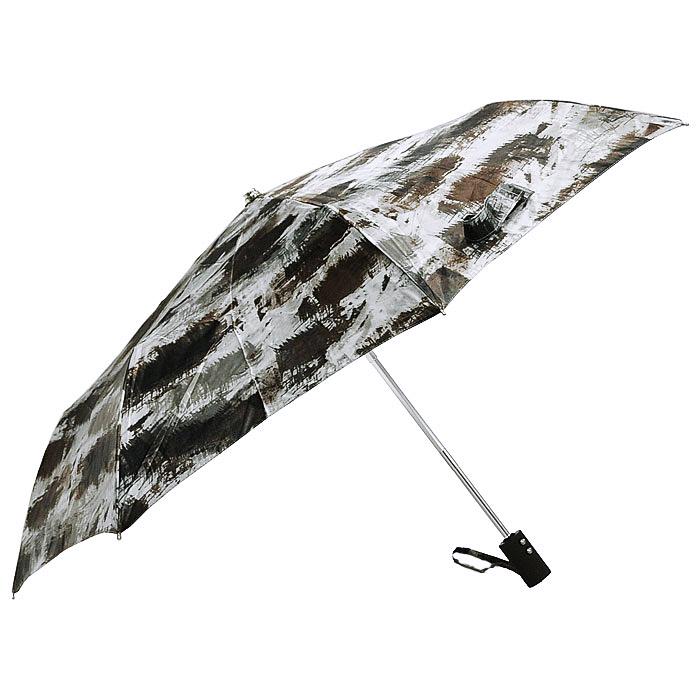 Зонт женский Vogue, автомат, 3 сложения, цвет: коричневый. 472 V472 VСтильный автоматический зонт Vouge в 3 сложения даже в ненастную погоду позволит вам оставаться стильной и элегантной. Рукоятка разработана с учетом требований эргономики и выполнена из прорезиненного пластика. Каркас зонта состоит из восьми металлических спиц. Зонт имеет полный автоматический механизм сложения: купол открывается и закрывается нажатием кнопки на рукоятке, стержень складывается вручную до характерного щелчка, благодаря чему открыть и закрыть зонт можно одной рукой, что чрезвычайно удобно при входе в транспорт или помещение. Купол зонта выполнен из сатина коричневого цвета. На рукоятке для удобства есть небольшой шнурок, позволяющий надеть зонт на руку тогда, когда это будет необходимо. Компактные размеры зонта в сложенном виде позволят ему без труда поместиться в сумочке и не доставят никаких проблем во время переноски. К зонту прилагается чехол.