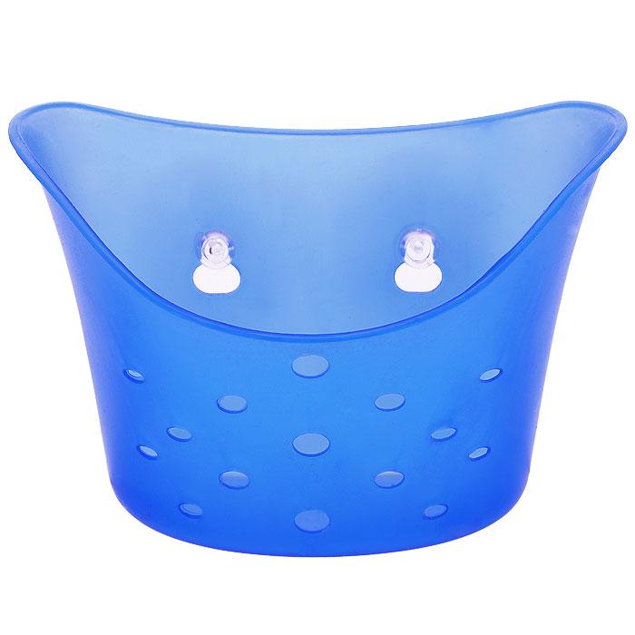 Подставка навесная LaSella, на присосках, цвет: синий, 18,5 х 9 х 13,5 смTL1662Подставка LaSella изготовленная из пластика, предназначена для хранения мелких вещей в ванной комнате. Она крепится к стене с помощью двух вакуумных присосок (входят в комплект), мгновенно одним нажатием. Основание и стенки подставки оформлены перфорацией. В случае необходимости изделие можно быстро перевесить. Никаких дырок и следов на поверхности не остается. Легко устанавливается на плитку, стекло, металл и прочие воздухонепроницаемые поверхности. Размер подставки: 18,5 см х 9 см х 13,5 см. Диаметр присоски: 6 см.
