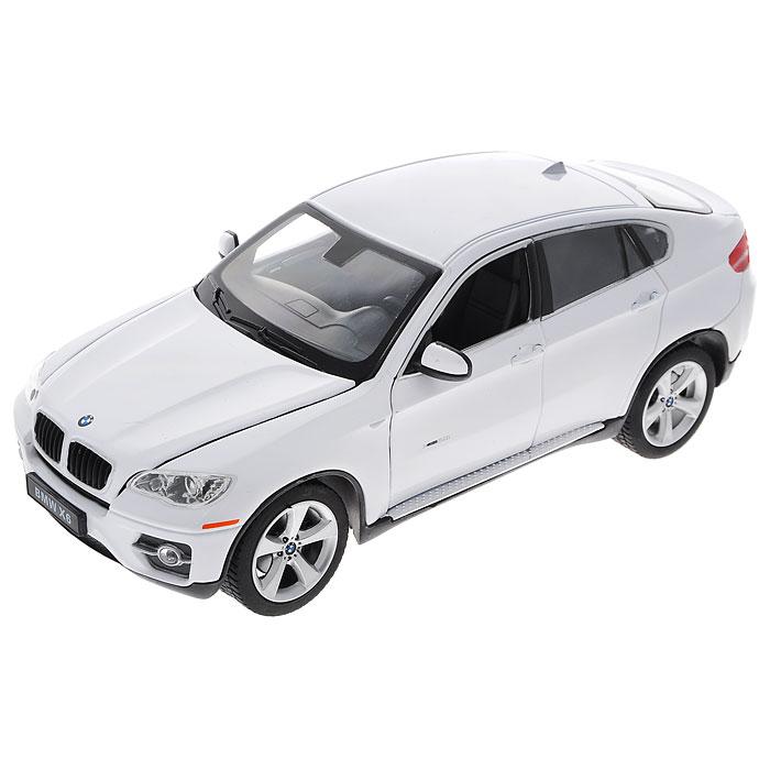 Rastar Модель автомобиля BMW X6 цвет белый41500Стильная модель автомобиля BMW X6 привлечет внимание не только ребенка, но и взрослого. Машинка является точной уменьшенной копией автомобиля в масштабе 1:24. У нее открываются дверцы и капот. Машинка изготовлена из прочных материалов, шины выполнены из мягкой резины. Такая модель станет отличным подарком не только любителю автомобилей, но и человеку, ценящему оригинальность и изысканность, а качество исполнения представит такой подарок в самом лучшем свете.