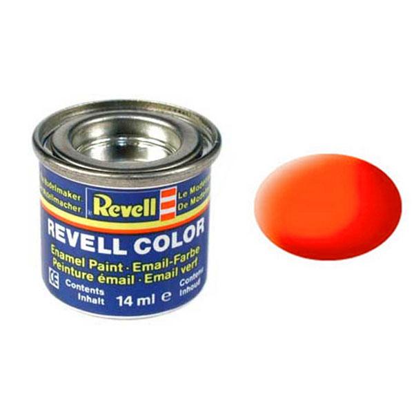 Revell Краска для моделей матовая №25 цвет светящийся оранжевый 14 мл32125/РАЛ 2005Матовая краска для моделей Revell сможет создать яркий акцент на крыльях радиоуправляемых самолетов. Светящийся эффект достигается с помощью добавления специального вещества в состав краски. Особенность данной продукции – быстрое высыхание. Уже через четыре часа можно наносить краску другого цвета, поэтому украсить модель можно очень быстро. Краска упакована в экономичную банку, что позволяет экономно ее расходовать, а после использования банку можно закрыть крышкой, чтобы избежать высыхания.