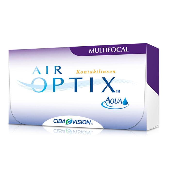Alcon-CIBA Vision контактные линзы Air Optix Aqua Multifocal (3шт / 8.6 / 14.2 / +6.00 / Med)31067Контактные линзы Air Optix Aqua Multifocal предназначены для коррекции возрастной дальнозоркости. Если для работы вблизи или просто для чтения вам необходимо использовать очки, то эти линзы помогут вам избавиться от них. В линзах Air Optix Aqua Multifocal вы будете одинаково четко видеть как предметы, расположенные вблизи, так и удаленные предметы. Линзы изготовлены из силикон-гидрогелевого материала лотрафилкон В, который пропускает в 5 раз больше кислорода по сравнению с обычными гидрогелевыми линзами. Они настолько комфортны и безопасны в ношении, что вы можете не снимать их до 6 суток. Но даже если вы не собираетесь окончательно сменить очки на линзы, мы рекомендуем вам иметь хотя бы одну пару таких линз для экстремальных ситуаций, например для занятий спортом. Контактные линзы Air Optix Aqua Multifocal имеют три степени аддидации: Low (низкую) до +1,00; Medium (среднюю) от +1,25 до +2,00 и High (высокую) свыше +2,00.