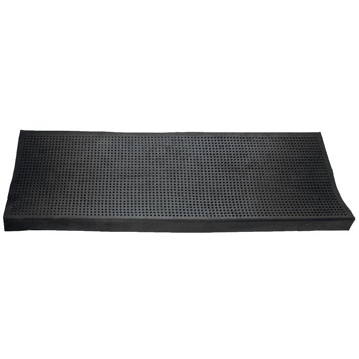 Коврик Vortex на ступеньку, цвет: черный, 25 см х 75 см20078Коврик Vortex изготовлен из прочной и долговечной резины. Он прекрасно очищает обувь благодаря резиновым шипам, в которых задерживается грязь и снег. Коврик Vortex надежно защитит помещение от уличной пыли и грязи. Характеристики: Материал: резина. Размер коврика: 25 см х 75 см. Изготовитель: Индия. Артикул: 20078.