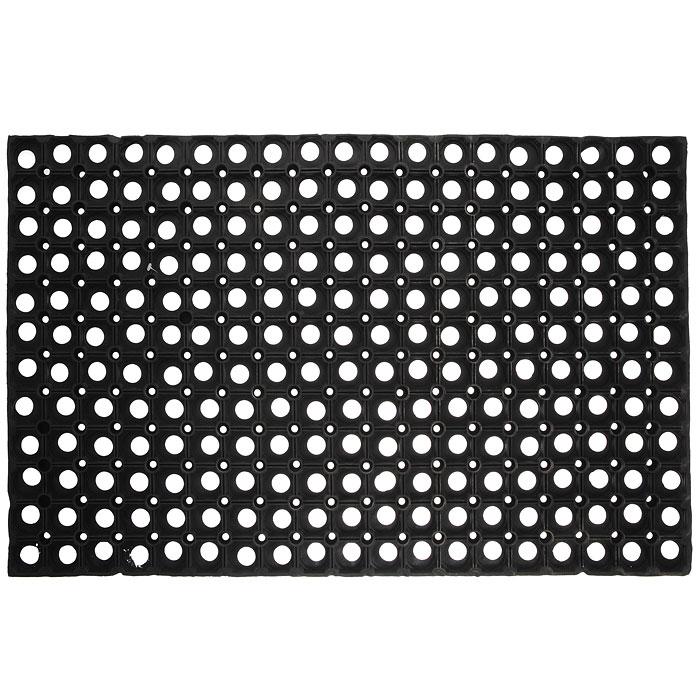 Коврик Vortex, грязесборный, цвет: черный, 50 х 80 см20002Коврик Vortex выполнен из резины и состоит из множества ячеек для сборки грязи. Он предназначен для защиты помещений от уличной грязи. Коврик Vortex прекрасно очищает подошву обуви от загрязнений. Характеристики: Материал: резина. Цвет: черный. Размер: 50 см х 80 см. Изготовитель: Индия. Артикул: 20002.