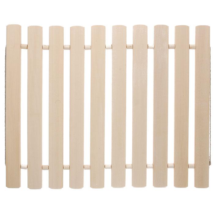 Коврик для бани и сауны Банные штучки, деревянный, 40 см х 40 см