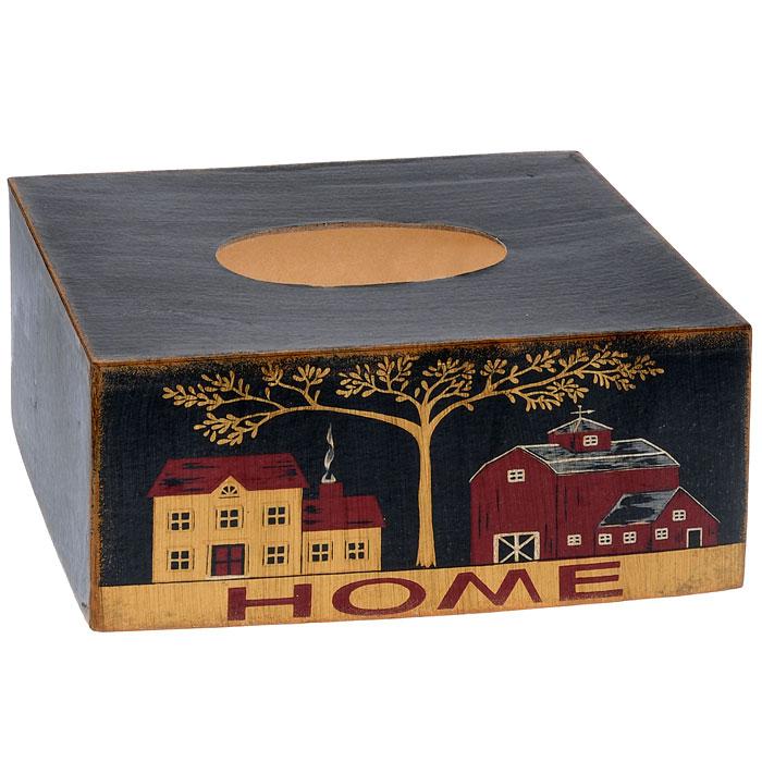 Салфетница Home, 25 см х 13 см х 10 см25556Салфетница Home, выполненная из МФД, прекрасно подойдет для вашей кухни, она великолепно украсит стол. Салфетница декорирована рисунком в виде двух домиков и дерева. Салфетница придется по вкусу и ценителям классики, и тем, кто предпочитает яркий современный дизайн. Она станет отличным подарком для друзей и близких.