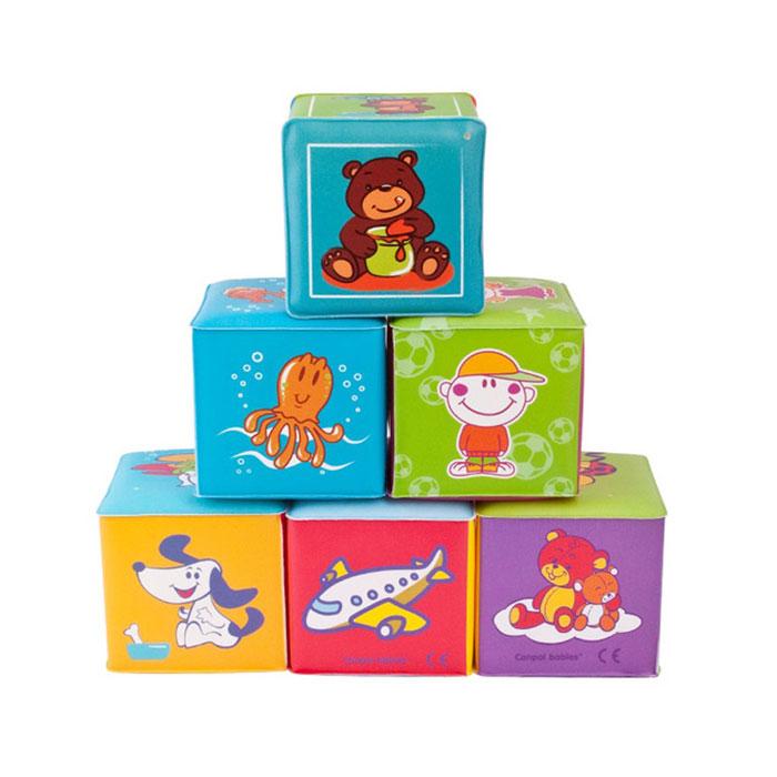 Кубики-мякиши Canpol Babies, 6 шт2/817Кубики-мякиши Canpol Babies - это уникальный набор из шести мягких кубиков, которые познакомят вашего ребенка с окружающим миром. Яркие и привлекательные кубики имеют удобный для руки ребенка размер и комбинированную расцветку. Кубики изготовлены из высококачественной ткани и мягкого наполнителя, что делает их абсолютно безопасными в игре. Удачно подобранный размер и цвет развивают мышление, координацию движений и совершенствуют моторику нежных пальчиков малыша. Также кубики можно использовать для игры во время купания. Характеристики: Наполнитель: поролон. Рекомендуемый возраст: от 6 месяцев. Размер кубика: 7,5 см х 7,5 см х 7 см. Изготовитель: Китай.