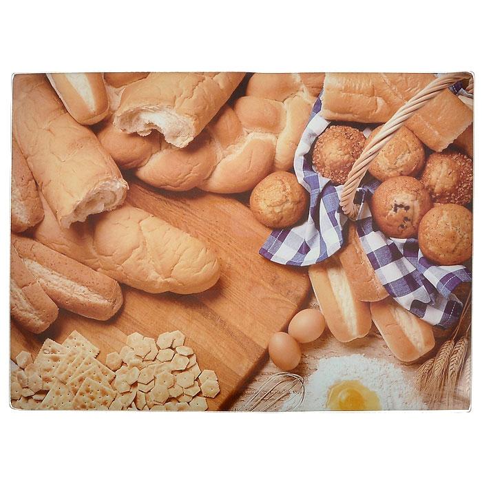Доска разделочная Gotoff Хлеб стеклянная, 30 х 40см WTC30421WTC30421Разделочная доска Gotoff Хлеб, выполненная из стекла, станет незаменимым атрибутом приготовления пищи. Доска оформлена изображением различных хлебобулочных изделий. Доска устойчива к повреждениям и не впитывает запахи. Резиновые ножки не скользят по столу, придавая доске устойчивость. Доску можно использовать как подставку под горячее, так как она выдерживает температуру до 260°C. Гигиенична и проста в уходе. Доска моется с использованием обычных моющих средств или в посудомоечной машине. Главное преимущество стеклянной разделочной доски - дизайн. На стеклянных досках фантазия художников рождает целые шедевры: репродукции картин, натюрморты, пейзажи. Такое разнообразие в дизайне позволяет подобрать подходящую доску для любого интерьера. Стеклянную доску можно также использовать и для сервировки стола, это делает ее весьма привлекательной для рестораторов.