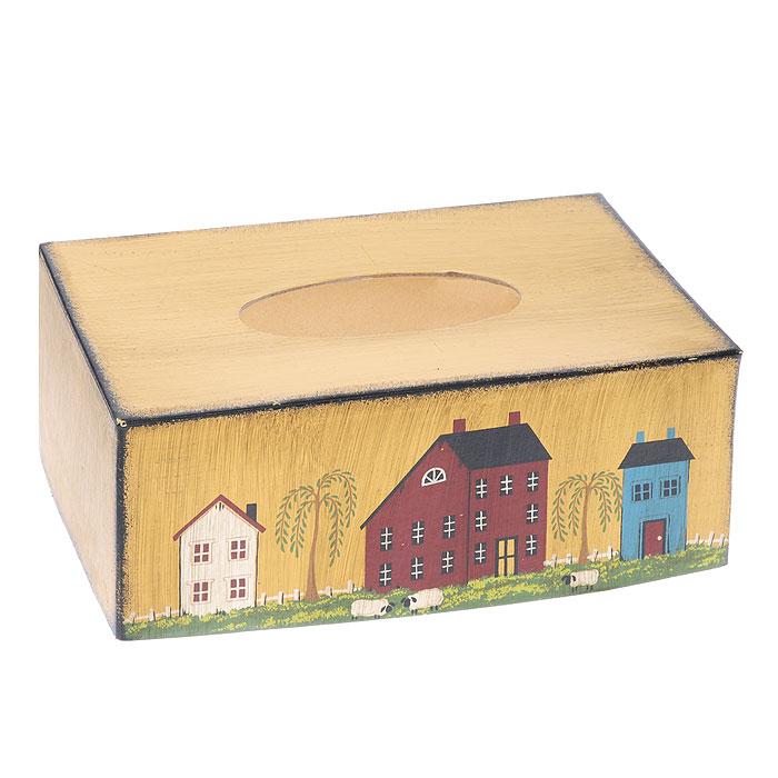 Салфетница Домики, 25 х 13 х 10 см25555Салфетница Домики, выполненная из МФД, прекрасно подойдет для вашей кухни, она великолепно украсит стол. Салфетница декорирована рисунком в виде разноцветных домиков, рядом с которыми пасутся овечки. Салфетница придется по вкусу и ценителям классики, и тем, кто предпочитает яркий современный дизайн. Она станет отличным подарком для друзей и близких.