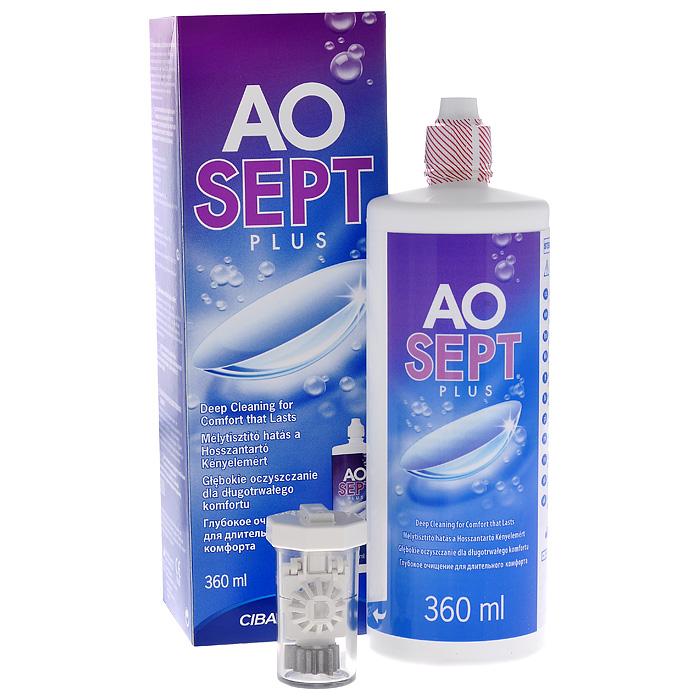 Aosept Plus Раствор для контактных линз, с катализатором, 360 мл