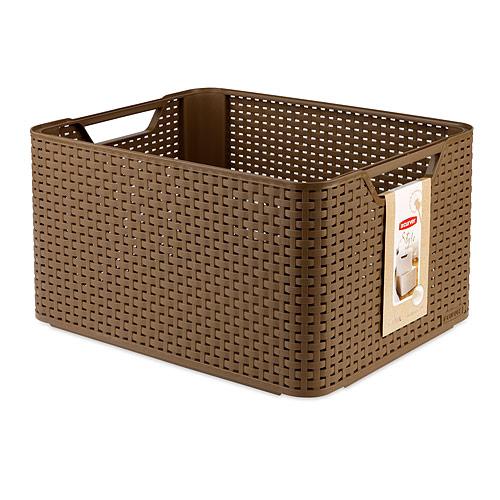 Корзинка Natural Style, цвет: коричневый, 30л (L). D 03616-21303616-213полимеры