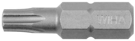 Биты шестиугольные Wiha Standart, T30 х 25 мм, 10 штF016800310Биты шестиугольные Wiha предназначены для монтажа/демонтажа резьбовых соединений. Благодаря удачным параметрам твердости хорошо используются для закручивания как вручную, так и с помощью электроинструмента.