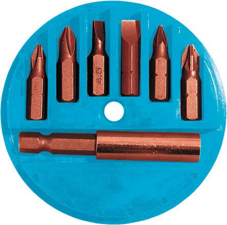 Набор бит FIT, 25 мм, 6 шт. 5768257682Набор бит FIT идеально подходит для столяров, плотников и отделочников. Оптимально передают крутящий момент и уменьшают силу выталкивания, что уменьшает прокручивание и износ как наконечника бита, так и головки винта. В набор входят биты шлицевые SL4,5, SL6, биты крестовые PH1, PH2, PZ1, PZ2, адаптер для бит, пластиковый пенал для хранения.