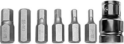 Набор шестигранных бит FIT, 7 шт57807Набор бит FIT Spline предназначен для монтажа и демонтажа резьбовых соединений. Это необходимый предмет в каждом доме, набор станет незаменимым в вашем хозяйстве. В набор входят: Биты: Н4, Н5, Н6, Н8, Н10, Н12. Адаптер с воротка на биту с посадочным диаметром 1/2