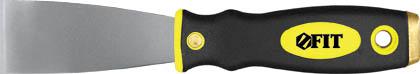 Шпатель FIT, 38 мм06671Шпатель FIT с твердым полированным лезвием с заточенной гранью и эргономичной двухкомпонентной рукояткой с металлическим бойком, предназначен для удаления ржавчины.