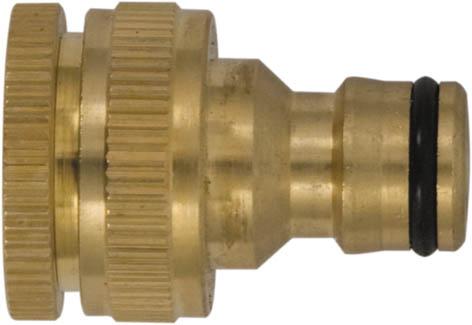 Коннектор для кранов FIT с внешней резьбой, 1/2 - 3/477455Коннектор для кранов FIT предназначен для надежного и герметичного соединения заборного шланга с краном, как переходник между соединителем поливочной системы и трубой с внешней резьбой. Изделие имеет внутреннюю резьбу. Изготовлен из высококачественного материала, имеет длительный срок эксплуатации. Характеристики: Материал: латунь. Размеры насадки: 4 см x 3 см x 3 см. Размер упаковки: 8 см x 13 см x 3,5 см.