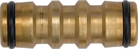 Переходник латунный Fit, 45 мм77461Переходник латунный Fit применяется для быстрого монтажа 2-х участков шланга с соединителями на концах.