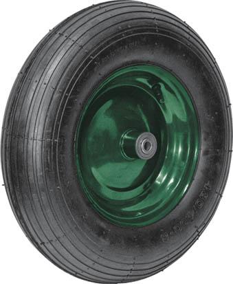 Колесо запасное для тачки Fit, 16 x 4, 150 кг77560Колесо Fit является запасным элементом для тачки. Имеет резиновую шину и камеру, крашенный диск (красный). Диаметр надувного колеса 100 x 350 мм. Шариковый стальной подшипник обеспечивает прочность и надежность конструкции. Грузоподъемность колеса составляет 150 кг. Для тачки универсальной 77550.
