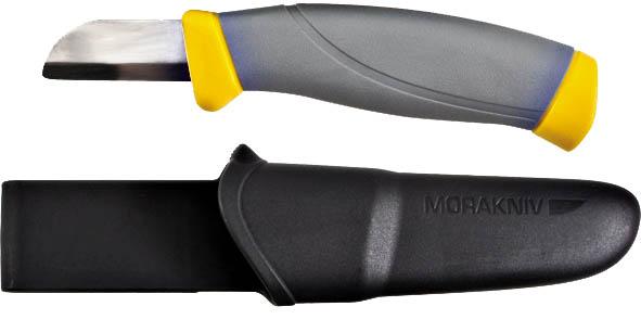 Нож для электротехнических работ Morakniv10711Нож Morakniv подойдет для электромонтажных работ при резке и снятии изоляционного пластикового покрытия с проводов и кабелей. Оснащен удобной рукояткой и укомплектован ножнами, которые при необходимости крепятся к поясу.